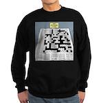 Baby Crossword Puzzle Sweatshirt (dark)