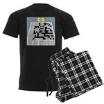 Baby Crossword Puzzle Men's Dark Pajamas
