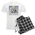 Baby Crossword Puzzle Men's Light Pajamas