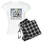 Baby Crossword Puzzle Women's Light Pajamas