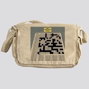 Baby Crossword Puzzle Messenger Bag