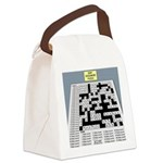 Baby Crossword Puzzle Canvas Lunch Bag
