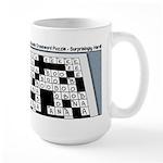 Baby Crossword Puzzle Large Mug