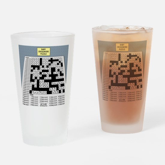 Baby Crossword Puzzle Drinking Glass