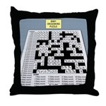 Baby Crossword Puzzle Throw Pillow