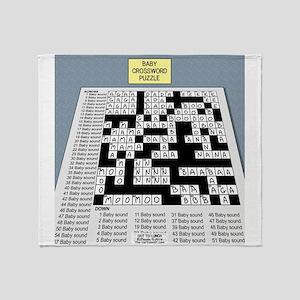 Baby Crossword Puzzle Throw Blanket