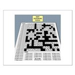 Baby Crossword Puzzle Small Poster