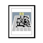 Baby Crossword Puzzle Framed Panel Print
