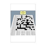 Baby Crossword Puzzle Mini Poster Print