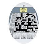 Baby Crossword Puzzle Oval Ornament