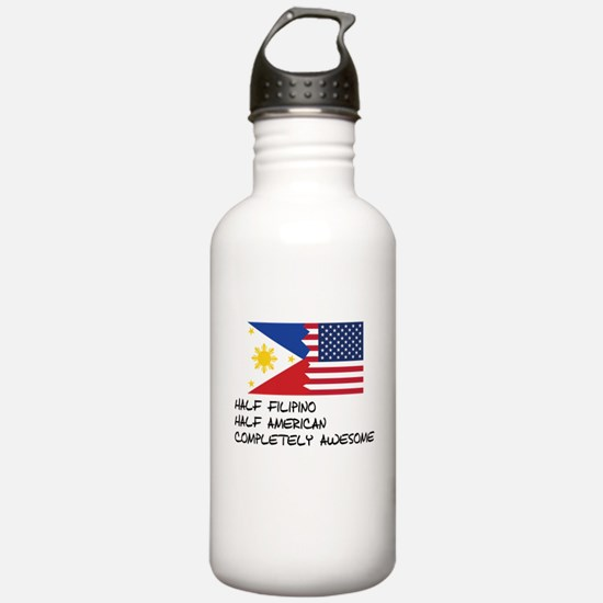 Half Filipino Completely Awesome Water Bottle