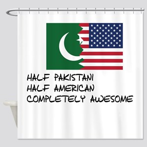 Half Pakistani Completely Awesome Shower Curtain