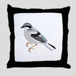 Coal tit bird Throw Pillow