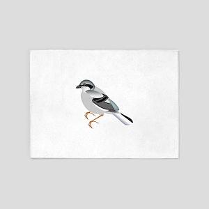 Coal tit bird 5'x7'Area Rug