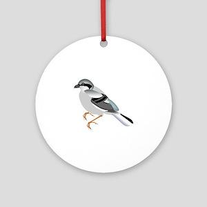 Coal tit bird Round Ornament