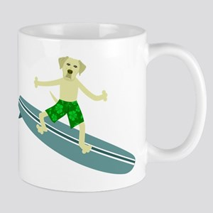 Yellow Labrador Retriever Surfer Coffee Mug