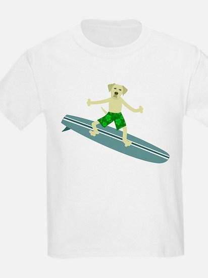 Yellow Lab Retriever Surfer T-Shirt