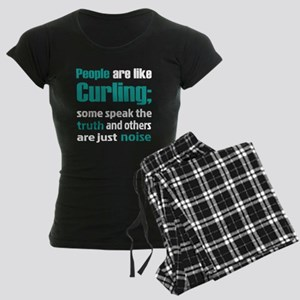 People are like Curling Women's Dark Pajamas