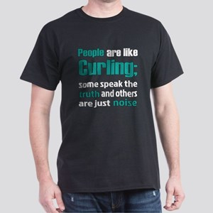 People are like Curling Dark T-Shirt
