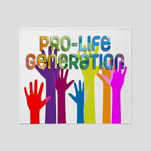 Pro-Life Generation Throw Blanket