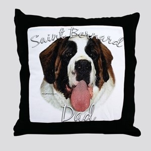 Saint Dad2 Throw Pillow
