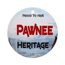 Pawnee Heritage Ornament (Round)