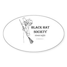 Black Hat Society Oval Sticker
