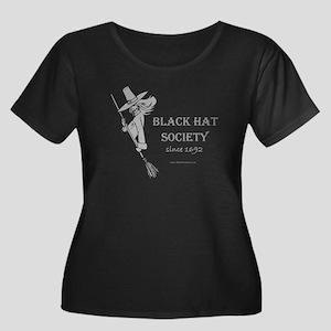 Black Hat Society Women's Plus Size Scoop Neck Da