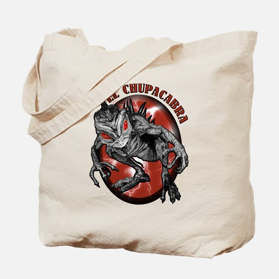 Chupacabra with Background 1 Tote Bag