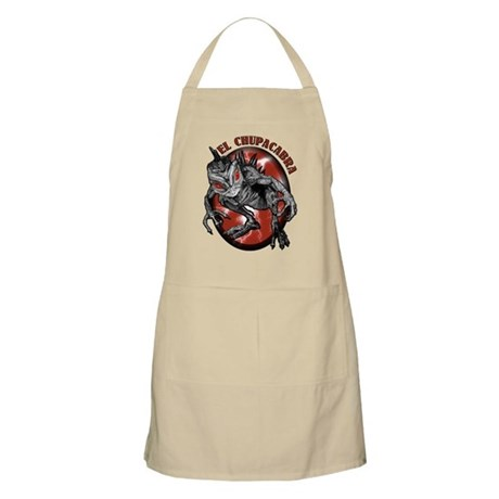 Chupacabra with Background 1 BBQ Apron