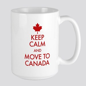 Keep Calm Move to Canada Large Mug
