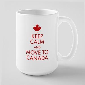 Keep Calm Move to Canada Large Mug