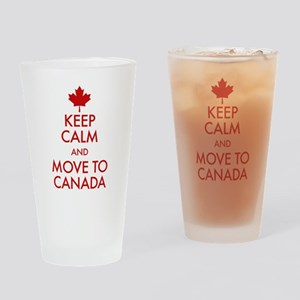Keep Calm Move to Canada Drinking Glass