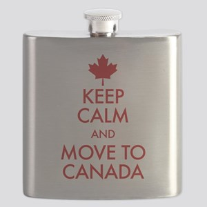 Keep Calm Move to Canada Flask
