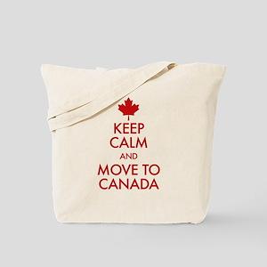 Keep Calm Move to Canada Tote Bag
