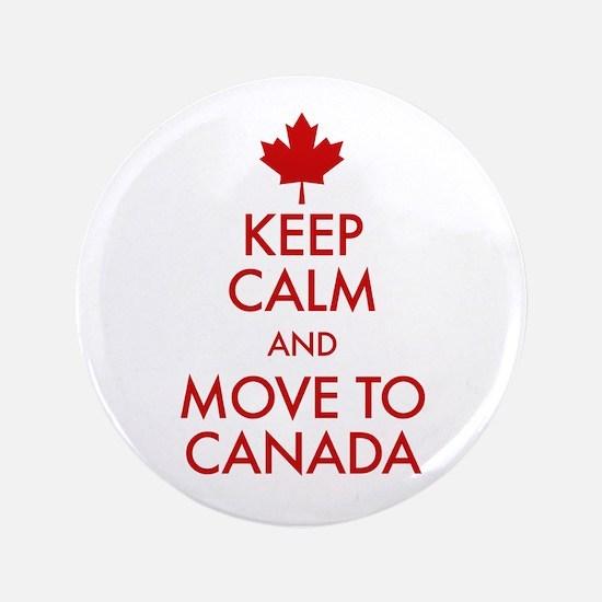 Keep Calm Move to Canada Button