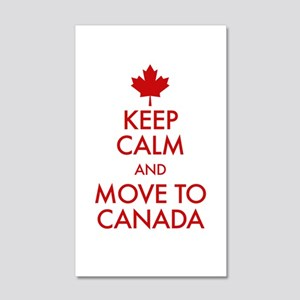 Keep Calm Move to Canada 20x12 Wall Decal
