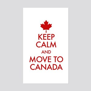 Keep Calm Move to Canada Sticker (Rectangle)