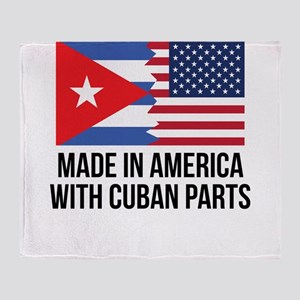 Made In America With Cuban Parts Throw Blanket