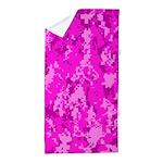 Pink Camo Beach Towel