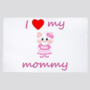 I Love My Mommy (kitty-Pink) 4' X 6' Rug