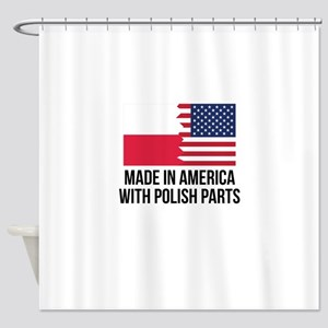 Made In America With Polish Parts Shower Curtain