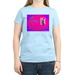 Sexy Receptionist Women's Pink T-Shirt