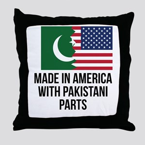 Made In America With Pakistani Parts Throw Pillow