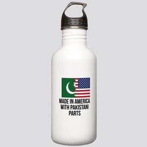 Made In America With Pakistani Parts Water Bottle