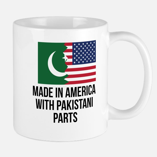 Made In America With Pakistani Parts Mugs