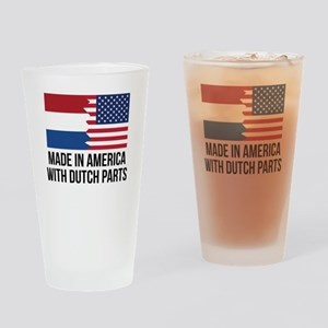 Made In America With Dutch Parts Drinking Glass