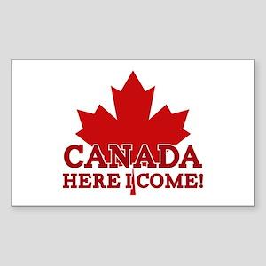 Canada Here I Come Sticker (Rectangle)