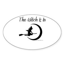 The Witch Is In Oval Sticker
