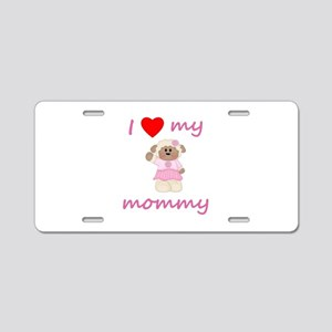 I love my mommy (sheep-pink Aluminum License Plate